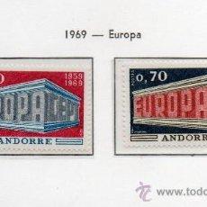 Sellos: ANDORRA FRANCESA=YVERT Nº 194/95=TEMA EUROPA=AÑO 1969=CATALOGO: 40 EUROS. Lote 37646280