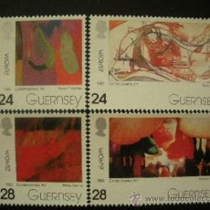 Sellos: GUERNESEY 1993 IVERT 616/9 *** EUROPA - ARTE CONTEMPORANEO . Lote 37819484