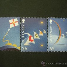 Sellos: GUERNESEY 2000 IVERT 861/3 *** EUROPA 2000 - COMPOSICIONES. Lote 37820006