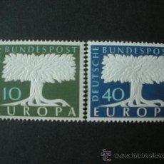 Sellos: ALEMANIA FEDERAL 1957 IVERT 140/1 *** EUROPA . Lote 38946080