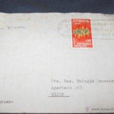 Sellos: FILATELIA SELLOS - SOBRE CIRCULADO CON MATASELLOS Y SELLO EUROPA 1972 FRANCIA. Lote 39406989