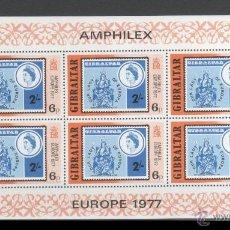 Sellos: GIBRALTAR 1977 HOJA BLOQUE SELLOS EUROPA- AMPHILEX 77 - OUR LADY OF EUROPE. Lote 39948144