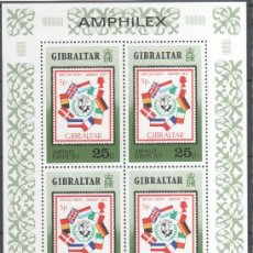 Sellos: GIBRALTAR 1977 HOJA BLOQUE SELLOS EUROPA- AMPHILEX 77 . Lote 39948223