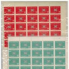 Sellos: TEMA EUROPA 1963 TURQUIA (2 VALORES) PLIEGOS COMPLETOS DE 100 SELLOS CADA UNO. Lote 42500453