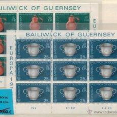 Sellos: TEMA EUROPA 1976 GUERNSEY (2 VALORES) MINIPLIEGOS COMPLETOS DE 9 SELLOS CADA UNO. Lote 42500547
