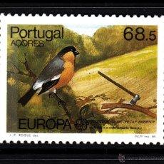 Sellos: AZORES 365** - AÑO 1986 - EUROPA - PROTECCION DE LA NATURALEZA - FAUNA - AVES. Lote 42887175