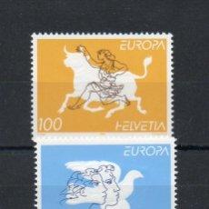 Sellos: SUIZA=EUROPA-BARCOS-TRANSPORTES-FAROS-COLON-TRENES-DESCUBRIMIENTO-FLORES-FLORA-ETC=REF:1497. Lote 44254353