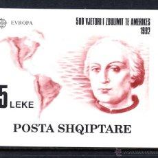Sellos: ALBANIA HB 73** - AÑO 1992 - EUROPA - 5º CENTENARIO DEL DESCUBRIMIENTO DE AMERICA. Lote 45445968