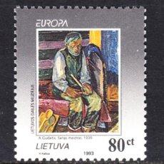 Sellos: LITUANIA 476** - AÑO 1993 - EUROPA - ARTE CONTEMPORANEO . Lote 112948659
