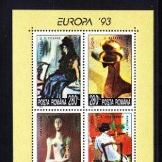 Sellos: RUMANIA HB 228** - AÑO 1993 - EUROPA - ARTE CONTEMPORANEO - PICASSO. Lote 113044330