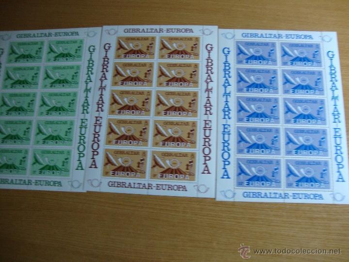 MINI HOJAS GIBRALTAR AÑO 1979 NNUEVAS SIN CHARNELAS (Sellos - Temáticas - Europa Cept)