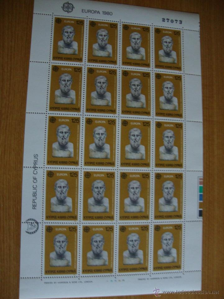 Sellos: 2 MINI HOJAS CHIPRE AÑO 1980 NUEVAS SIN CHARNELAS - Foto 2 - 48426563