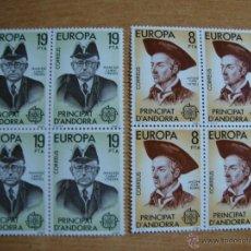 Sellos: TEMA EUROPA ANDORRA ESPAÑOLA AÑO 1980 BLOQUE DE 4 NUEVOS SIN CHARNELAS YVERT 124/125. Lote 48816143