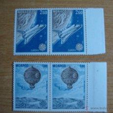 Sellos: TEMA EUROPA MONACOAÑO 1983 PAREJA NUEVOS SIN CHARNELAS YVERT 1365/1366. Lote 48816522