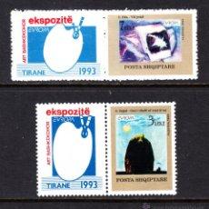 Sellos: ALBANIA 2299/300** - AÑO 1993 - EUROPA - ARTE CONTEMPORANEO. Lote 113154370