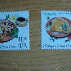 Sellos: TEMA EUROPA 2005 SERBIA MONTENEGRO NUEVOS SINCHARNELAS. Lote 49467274