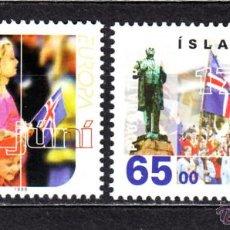 Sellos: ISLANDIA 839/40** - AÑO 1998 - EUROPA - FIESTAS NACIONALES. Lote 118867724
