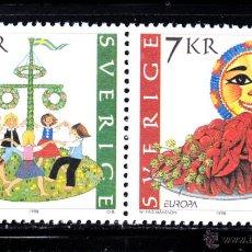 Sellos: SUECIA 2041/42** - AÑO 1998 - EUROPA - FESTIVALES NACIONALES. Lote 118867895