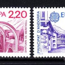Sellos: ANDORRA 358/59** - AÑO 1987 - EUROPA - ARQUITECTURA MODERNA. Lote 51055569