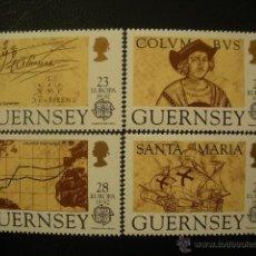 Sellos: GUERNESEY 1992 IVERT 560/3 *** EUROPA - 5º CENTENARIO DESCUBRIMIENTO DE AMERICA POR CRISTOBAL COLON. Lote 51110715