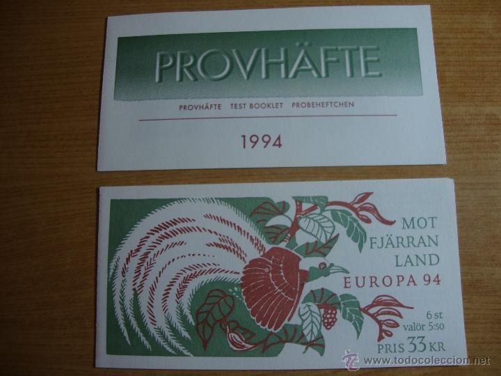 TEMA EUROPA CARNET Y PRUEBA SUECIA 1994 (Sellos - Temáticas - Europa Cept)