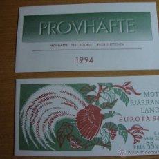 Sellos: TEMA EUROPA CARNET Y PRUEBA SUECIA 1994. Lote 51233993