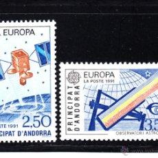 Sellos: ANDORRA 402/03** - AÑO 1991 - EUROPA - EL ESPACIO. Lote 51350733