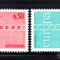 Sellos: ANDORRA 212/13** - AÑO 1971 - EUROPA. Lote 51400135