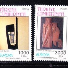 Sellos: TURQUÍA 2732/33** - AÑO 1993 - EUROPA - ARTE CONTEMPORÁNEO. Lote 51608088
