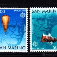 Sellos: SAN MARINO 1074/75** - AÑO 1983 - EUROPA - GRANDES OBRAS DE LA HUMANIDAD - AVIACION - BARCOS. Lote 51608298