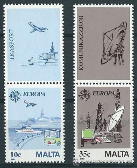 MALTA 1988 TEMA EUROPA YVERT 773/74** (Sellos - Temáticas - Europa Cept)