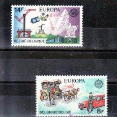 BELGICA / BELGIUM AÑO 1979 YVERT Nº 1925/26 ** MNH Sellos Nuevos sin fijasellos - EUROPA - TRANSPOR