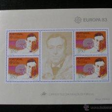 Sellos: PORTUGAL - EUROPA 1983 - HOJA BLOQUE. Lote 54511536