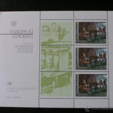 Sellos: PORTUGAL MADEIRA - EUROPA 1982 - HOJA BLOQUE. Lote 54511582