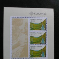 Sellos: PORTUGAL MADEIRA - EUROPA 1983 - HOJA BLOQUE. Lote 54511611