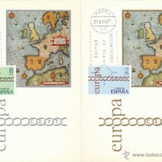 Sellos: EDIFIL 2031/2, EUROPA 1971, MAPA DE EUROPA, TARJETA MAXIMA DE PRIMER DIA 29-4-1971 CONSERIE COMPLETA. Lote 54634244