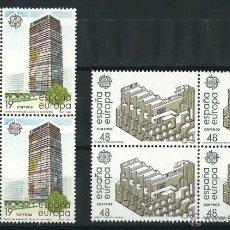 Sellos: ESPAÑA/SPAIN 1987 EDIFIL 2904/05** Y&T 2517/18** BLOQUES DE 4 EUROPA. Lote 56173651