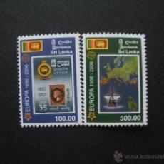 Sellos: SRI LANKA 2006 IVERT 1478/9 *** 50º ANIVERSARIO DE LA EMISIÓN DE SELLOS DEL TEMA EUROPA. Lote 54881994