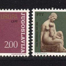 Sellos: YUGOSLAVIA 1438/39** - AÑO 1974 - EUROPA - ESCULTURA. Lote 106040655
