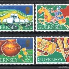 Sellos: GUERNSEY 643/46** - AÑO 1994 - EUROPA - LOS DESCUBRIMIENTOS. Lote 59731040