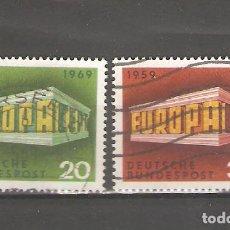 Sellos: ALEMANIA SELLOS USADOS SERIES COMPLETAS 1969. Lote 62636996