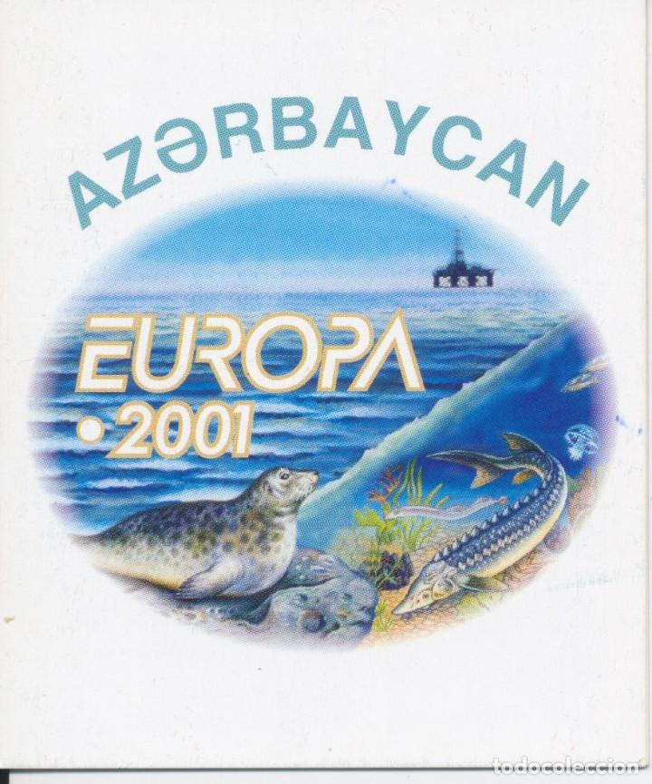 EUROPA CEPT AÑO 2001 AZERBAYCAN. NUEVOS SIN CHARNELA. CARNET RIQUEZA NATURAL (Sellos - Temáticas - Europa Cept)