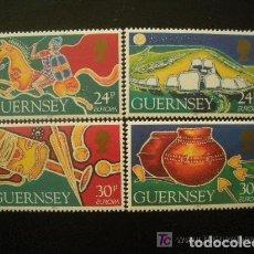 Sellos: GUERNESEY 1994 IVERT 643/6 *** EUROPA - LOS DESCUBRIMIENTOS. Lote 88970468