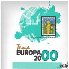 Sellos: AÑÒ 2000 COMPLETO DE SELLOS TEMA EUROPA CEPT CON HOJAS. Lote 89388624