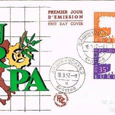 Selos: SARRE (REGION DE), EUROPA 1967. SOBRE PRIMER DIA DE 16-9-1957. Lote 91367100