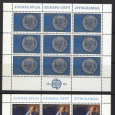 Sellos: YUGOSLAVIA - JUGOSLAVIJA 1980 ** - EUROPA CEPT. Lote 95290287