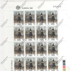 Sellos: CHYPRE Nº 542 AL 543MINI PLIEGO DE BENTE SERIE (**). Lote 95405319