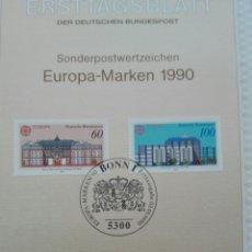 Sellos: LLOS PRIMER DÍA TEMA EUROPA SALIDA 1 €. Lote 100197924