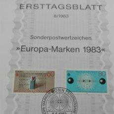 Sellos: TEMA EUROPA 83MATASELLOS PRIMER DÍA TEMA SALIDA 1 €. Lote 100199954