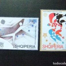 Sellos: ALBANIA SHQIPERIA 2005 EUROPA CEPT CIRCO ARTE YVERT 2775 / 76 ** MNH. Lote 198141658